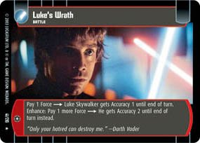 #41 Luke's Wrath (ESB rare) Star Wars TCG