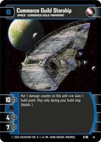 #5 Commerce Guild Starship Star Wars TCG (ROTS rare)