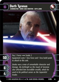 #8 Darth Tyranus (I) Star Wars TCG (ROTS rare)