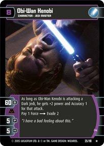 #25 Obi-Wan Kenobi (N) Star Wars TCG (ROTS rare)