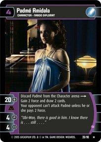 #26 Padme Amidala (G) Star Wars TCG (ROTS rare)
