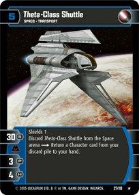 #37 Theta-Class Shuttle Star Wars TCG (ROTS rare)