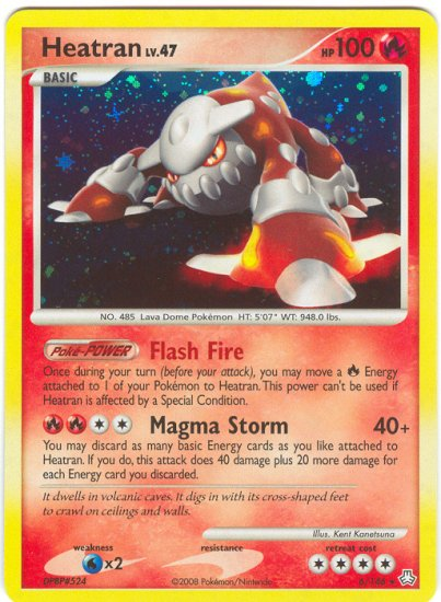 Heatran Lv.47 (Rare Normal) 6/146 Legends Awakened Pokemon TCG