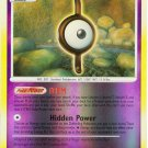 37 Unown (I) REVERSE FOIL (R) Mysterious Treasures Pokemon TCG