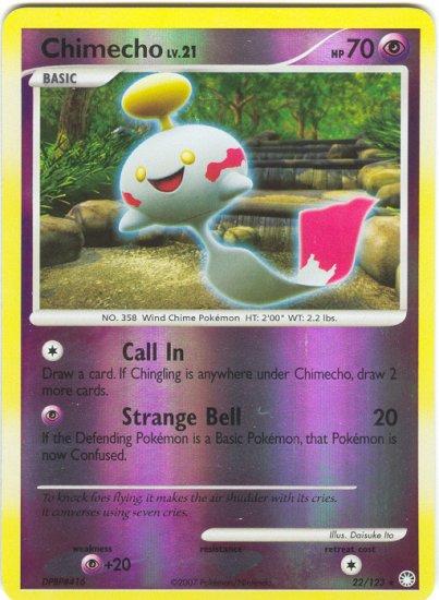 22 Chimecho REVERSE FOIL (R) Mysterious Treasures Pokemon TCG