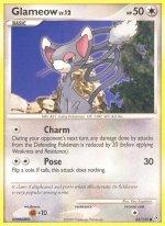 83 Glameow (Common Normal) Diamond and Pearl Pokemon TCG