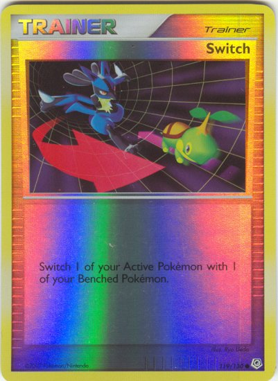 119 Switch (C) REVERSE FOIL Diamond and Pearl Pokemon TCG