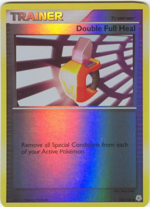 105 Double Full Heal (U) REVERSE FOIL Diamond and Pearl Pokemon TCG
