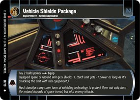 #68 Vehicle Shields Package Star Wars TCG (ROTS uncommon)