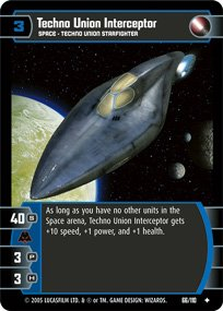 #66 Techno Union Interceptor Star Wars TCG (ROTS uncommon)