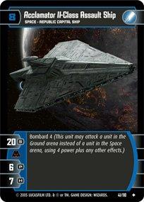 #41 Acclamator II-Class Assault Ship Star Wars TCG (ROTS uncommon)