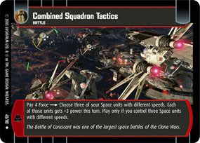 #45 Combined Squadron Tactics Star Wars TCG (ROTS uncommon)