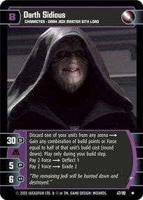 #47 Darth Sidious (F) Star Wars TCG (ROTS uncommon)