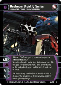 #49 Destroyer Droid, Q Series Star Wars TCG (ROTS uncommon)