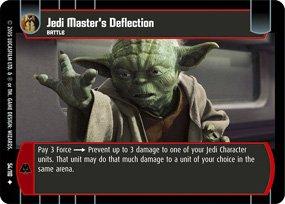 #54 Jedi Master's Deflection Star Wars TCG (ROTS uncommon)