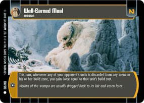 #208 Well-Earned Meal Star Wars TCG (ESB common)