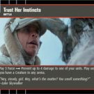 #206 Trust Her Instincts Star Wars TCG (ESB common)