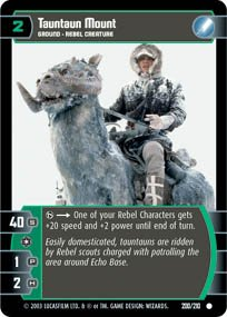 #200 Tauntaun Mount Star Wars TCG (ESB common)