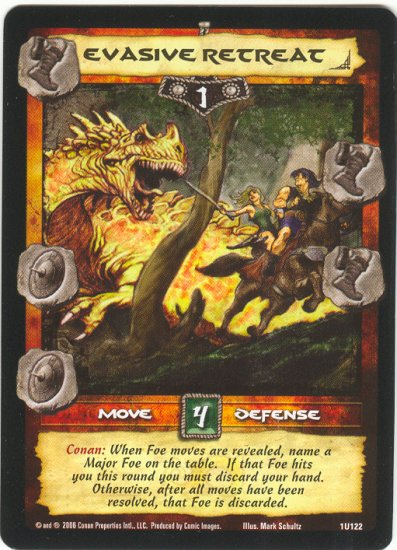 Evasive Retreat (U) Conan CCG