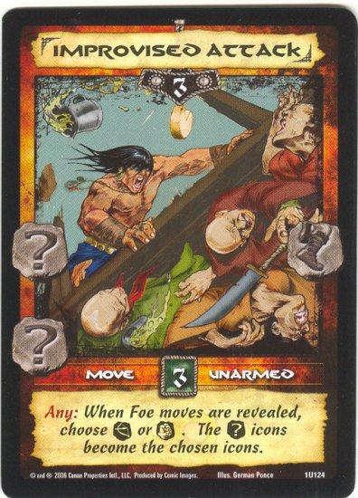 Improvised Attack (U) Conan CCG