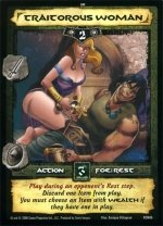 Traitorous Woman (C) Conan Collectible Card Game