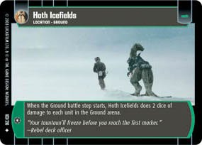 #103 Hoth Icefields Star Wars TCG (ESB uncommon)