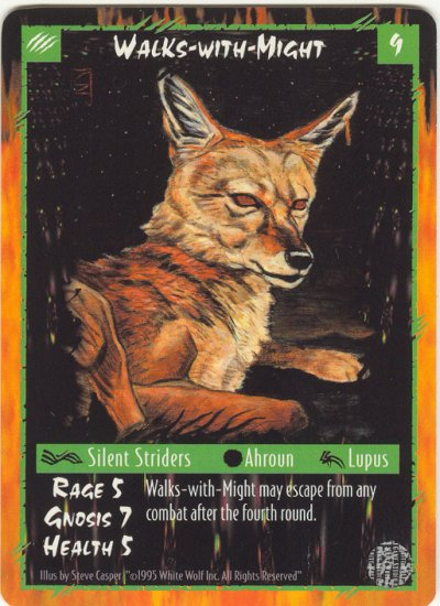 Walks-with-Might Character R Rage CCG Limited Edition