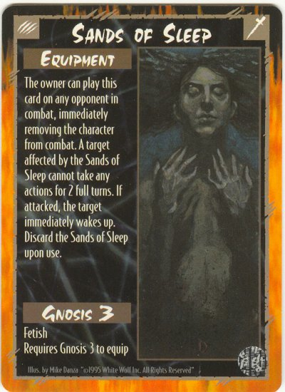 Sands of Sleep Equipment R Rage CCG Limited Edition