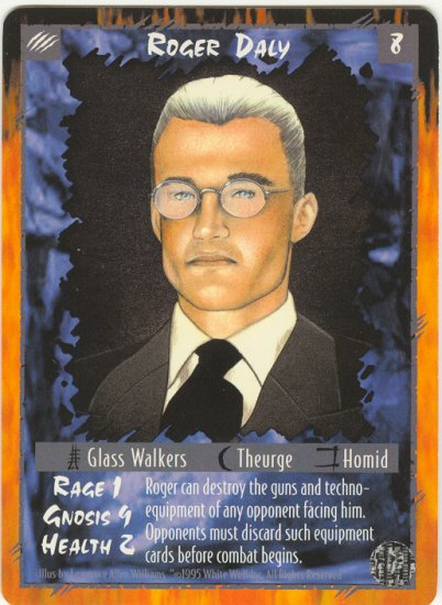 Roger Daly Character R Rage CCG Limited Edition