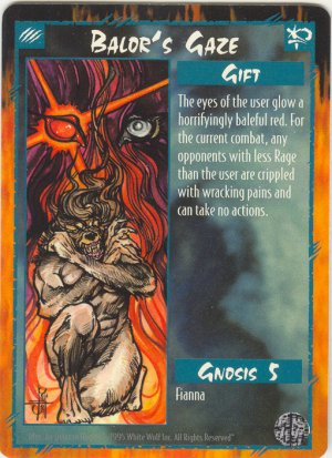 Balor's Gaze Gift R Rage CCG Limited Edition