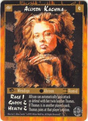 Allison Kachina Character U Rage CCG Limited Edition
