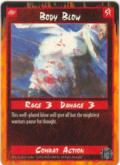 Body Blow Combat C Rage CCG Limited Edition