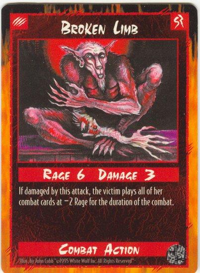 Broken Limb Combat C Rage CCG Limited Edition