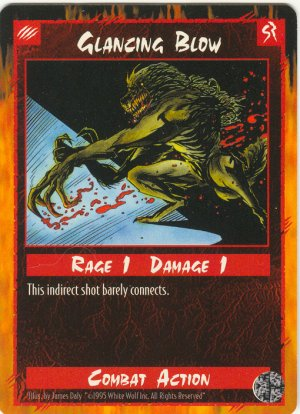Glancing Blow Combat C Rage CCG Limited Edition