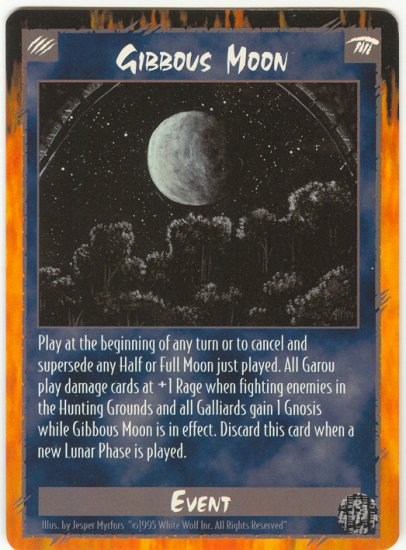 Gibbous Moon Event C Rage CCG Limited Edition