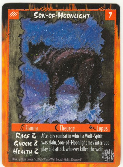 Son-of-Moonlight Character U Rage CCG Limited Edition
