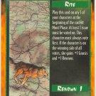 Rite of Wisdom Rite C Rage CCG Limited Edition