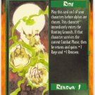 Rite of Glory Rite C Rage CCG Limited Edition