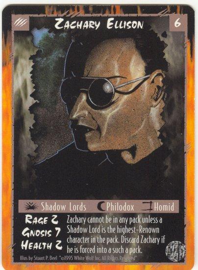 Zachary Ellison Character U Rage CCG Limited Edition