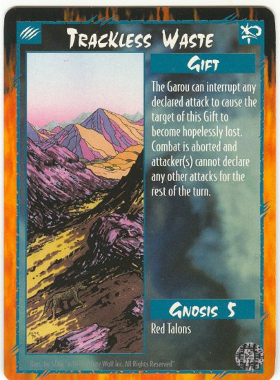 Trackless Waste Gift U Rage CCG Limited Edition