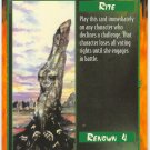 Stone of Scorn Rite U Rage CCG Limited Edition