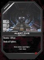 Alert Five BSG-057 (U) Battlestar Galactica CCG