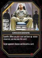 Crackdown BSG-017 (C) Battlestar Galactica CCG