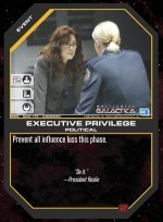 Executive Privilege BSG-026 (C) Battlestar Galactica CCG