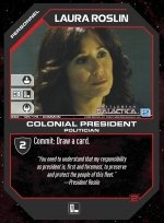 Laura Roslin, Colonial President BSG-125 (C) Battlestar Galactica CCG