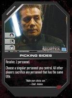 Picking Sides BSG-086 (U) Battlestar Galactica CCG