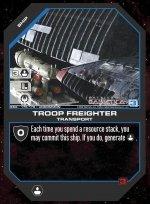 Troop Freighter BSG-175 (U) Battlestar Galactica CCG