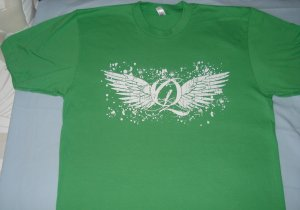 Quiet Grind Grass Green Crewneck Q and Wing Design
