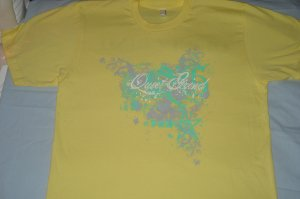 Quiet Grind Lemon Yellow Crewneck QG Splash Design *Limited Sizes*