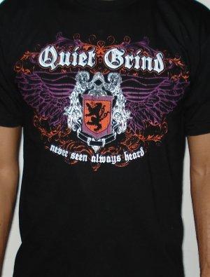 Quiet Grind Black Crewneck Shield Design (2 photos)